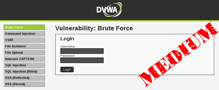 DVWA - Brute Force (Medium Level) - Time Delay
